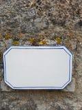 Leeg straatteken Royalty-vrije Stock Afbeeldingen