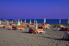 Leeg strand Stock Afbeeldingen