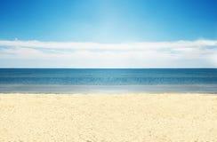 Leeg strand. Stock Afbeeldingen