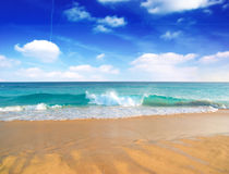 Leeg strand. Royalty-vrije Stock Foto's