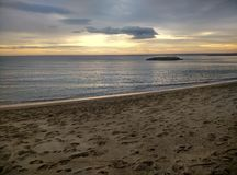 Leeg strand in Cambrils Spanje royalty-vrije stock afbeelding