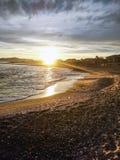 Leeg strand in Cambrils Spanje stock foto