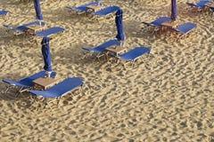 Leeg strand stock fotografie