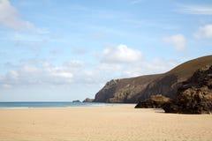 Leeg strand met tekstruimte. Royalty-vrije Stock Fotografie