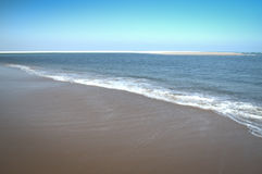 Leeg strand op het Bazaruto-Eiland Stock Foto's