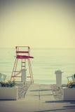 Leeg strand in wijnoogst Royalty-vrije Stock Foto's