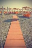 Leeg strand in wijnoogst Stock Foto