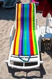 Leeg strandbed in Mamaia, Constanta Stock Afbeeldingen
