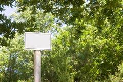 Leeg Teken in het platteland Royalty-vrije Stock Foto