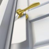 Leeg teken op het deurhandvat Royalty-vrije Stock Afbeelding
