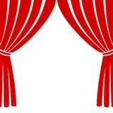 Leeg theaterstadium, het pictogram van het Theaterstadium royalty-vrije illustratie