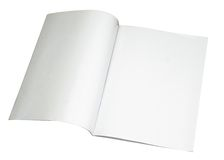 Leeg tijdschrift dat met weg wordt uitgespreid Royalty-vrije Stock Afbeeldingen