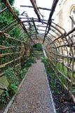 Leeg tuinlatwerk buiten het Kasteel van Winchester royalty-vrije stock afbeelding