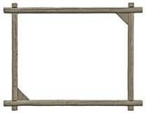 Leeg Uithangbordkader, Geïsoleerde Exemplaarruimte, Grey Wooden Texture Royalty-vrije Stock Afbeelding
