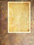 Leeg uitstekend document frame Stock Afbeelding
