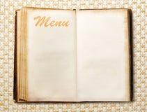 Leeg uitstekend menuboek stock afbeelding