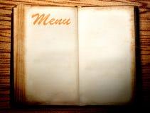 Leeg uitstekend menuboek royalty-vrije stock afbeelding