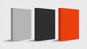 Leeg Verticaal Hardcover-Geplaatst Boek - Vectorillustratie - die op Transparante Achtergrond wordt geïsoleerd vector illustratie