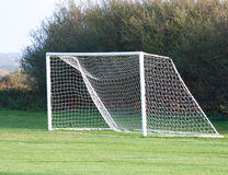 Leeg voetbaldoel Stock Afbeelding