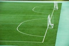 Leeg voetbalgebied Stock Foto's