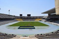 Leeg voetbalstadion stock afbeelding