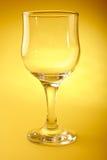 Leeg wijnglas Stock Foto's