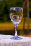 Leeg wijnglas royalty-vrije stock afbeeldingen