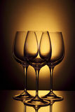 Leeg wijnglas stock afbeelding
