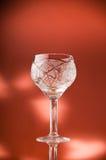 Leeg wijnglas Stock Afbeeldingen
