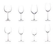 Leeg wijnglas. Stock Fotografie