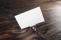 Leeg wit adreskaartje Royalty-vrije Stock Foto