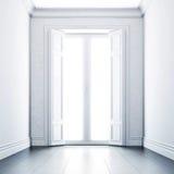 Leeg Wit Binnenland Stock Afbeeldingen