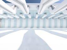 Leeg Wit Binnenland 3d Stock Fotografie
