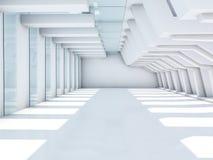 Leeg Wit Binnenland 3d Stock Afbeeldingen