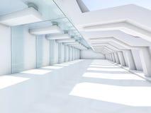 Leeg Wit Binnenland 3d Stock Foto