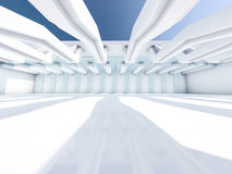Leeg Wit Binnenland 3d Royalty-vrije Stock Afbeeldingen
