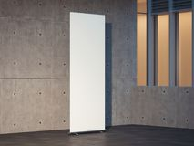 Leeg wit broodje omhoog met concrete muren op achtergrond, het 3d teruggeven Stock Foto's