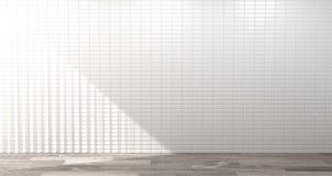 Leeg wit de muur 3d teruggevend huis van de keukenruimte de moderne achtergrond van het voedselrestaurant voor exemplaarruimte vector illustratie
