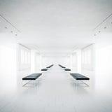 Leeg wit galerijbinnenland Stock Foto