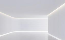 Leeg wit ruimte modern ruimte binnenlands 3d teruggevend beeld Royalty-vrije Stock Afbeelding