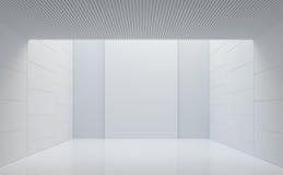 Leeg wit ruimte modern ruimte binnenlands 3d teruggevend beeld Royalty-vrije Stock Foto