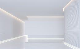 Leeg wit ruimte modern ruimte binnenlands 3d teruggevend beeld Royalty-vrije Stock Foto's
