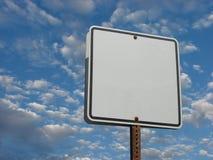 Leeg wit straatteken Stock Afbeelding