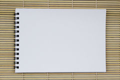 Leeg wit vijverdocument realistisch spiraalvormig blocnotenotitieboekje op ligh Royalty-vrije Stock Foto