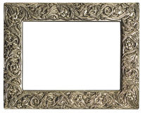 Leeg zilveren frame royalty-vrije stock foto's