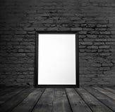 Leeg zwart kader Stock Foto's