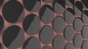 Leeg zwart kenteken op rode achtergrond Royalty-vrije Stock Foto