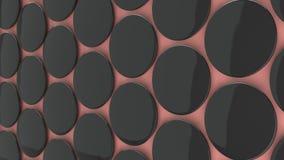 Leeg zwart kenteken op rode achtergrond Royalty-vrije Stock Foto's