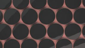 Leeg zwart kenteken op rode achtergrond Stock Fotografie