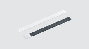 Leeg zwart-wit document manchetmodel Stock Afbeelding